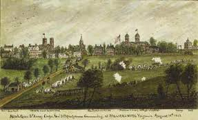 Sneden's watercolor painting of Williamsburg in 1862