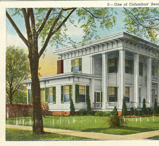 Postcard of One of Columbus' Beautiful Homes, Columbus, Mississippi