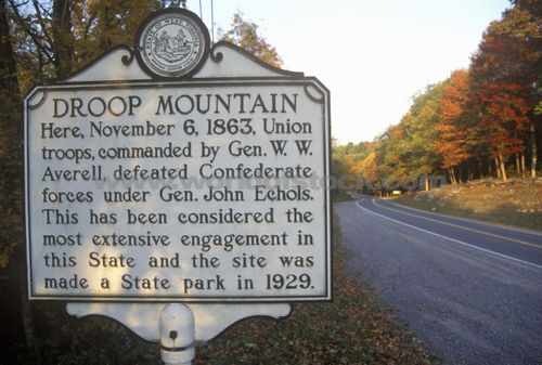 A West Virginia roadside historical marker gives a brief synopsis of the battle.