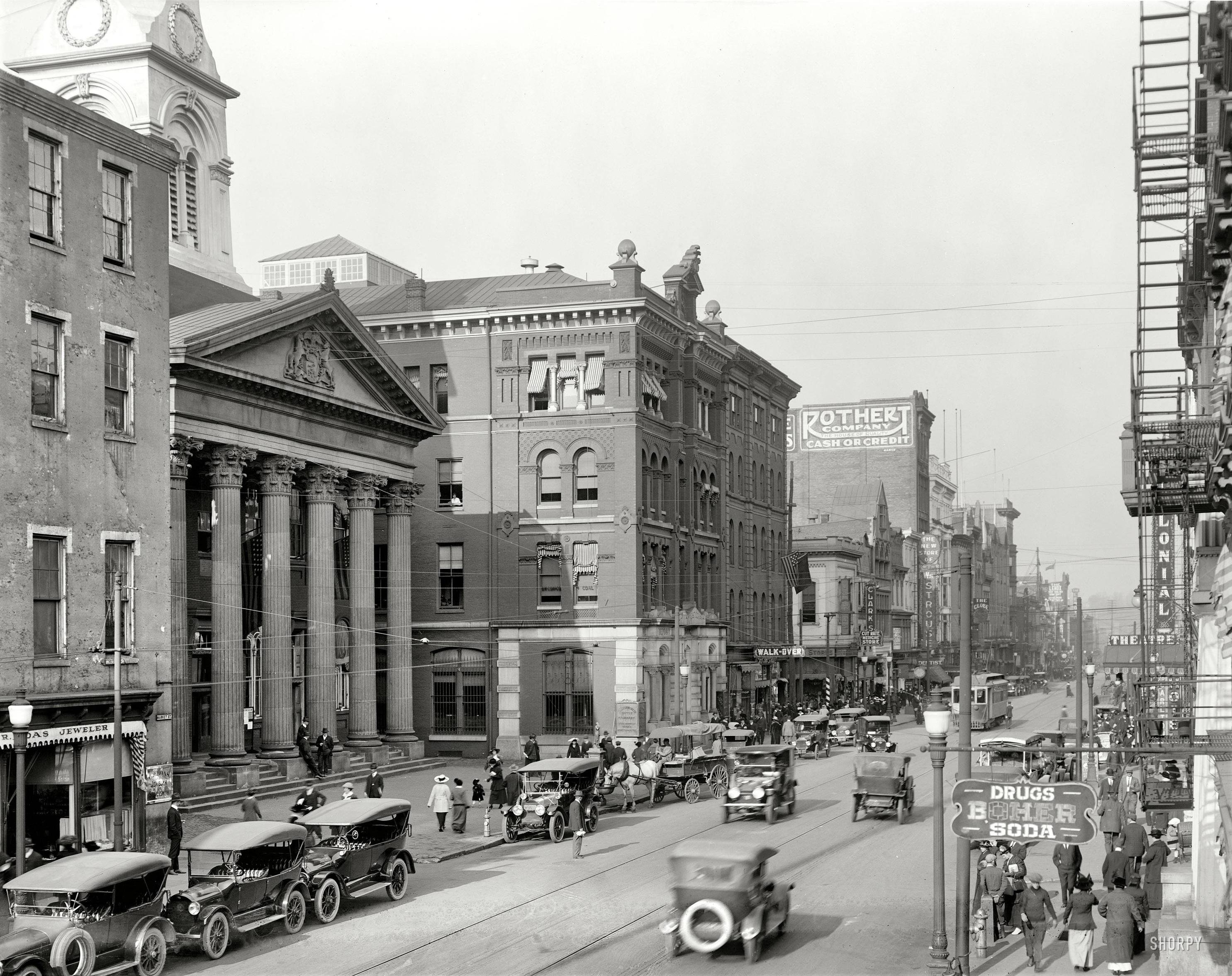 A 1916 photo of Market Street.