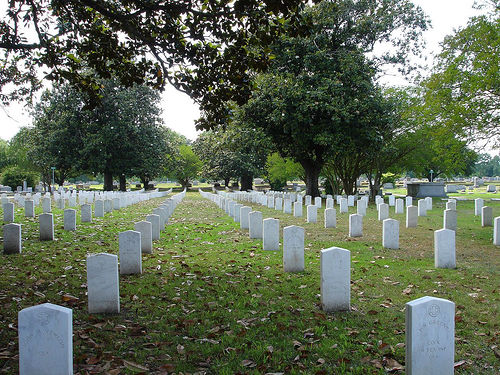 Confederate Graves inside Friendship Cemetery