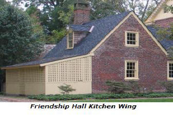 Friendship Hall, kitchen wing