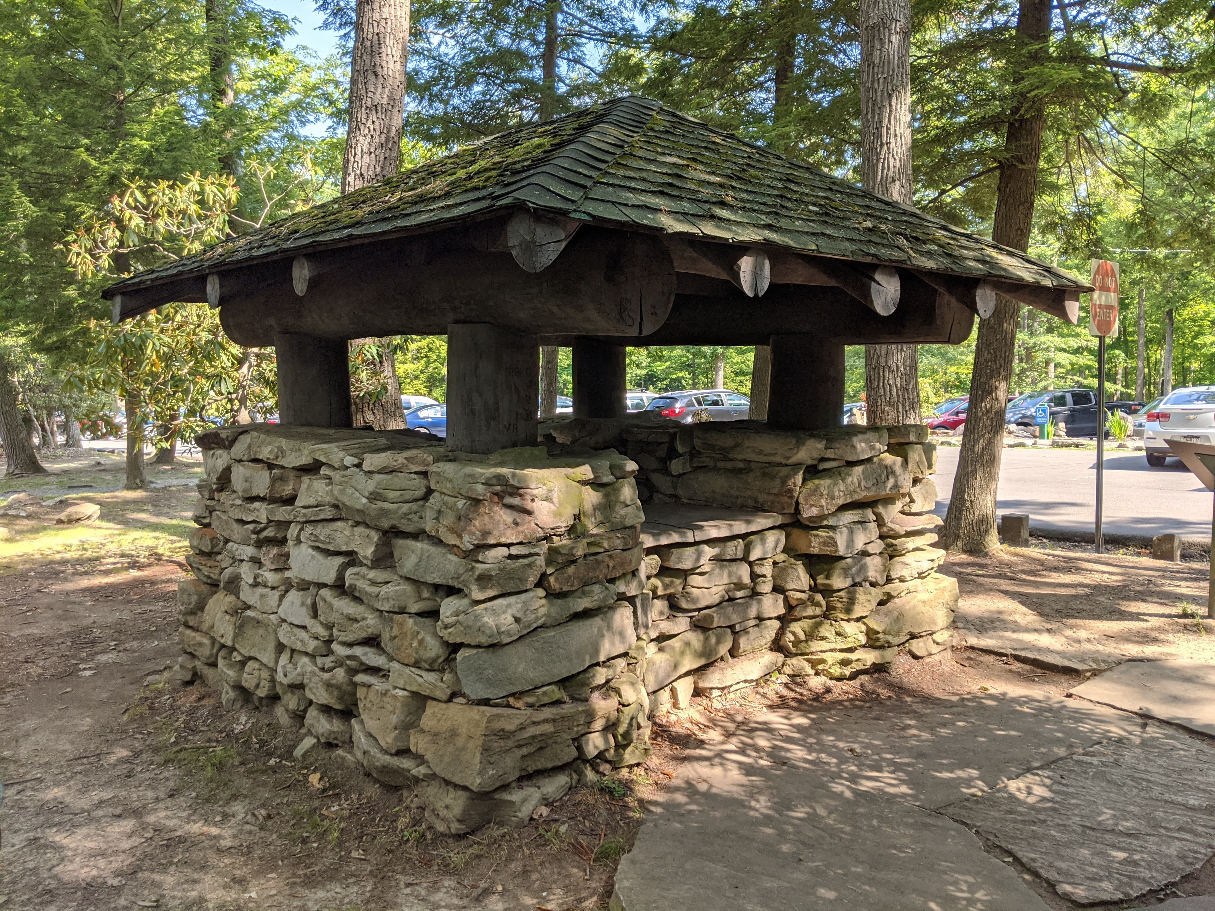 Front of the information booth