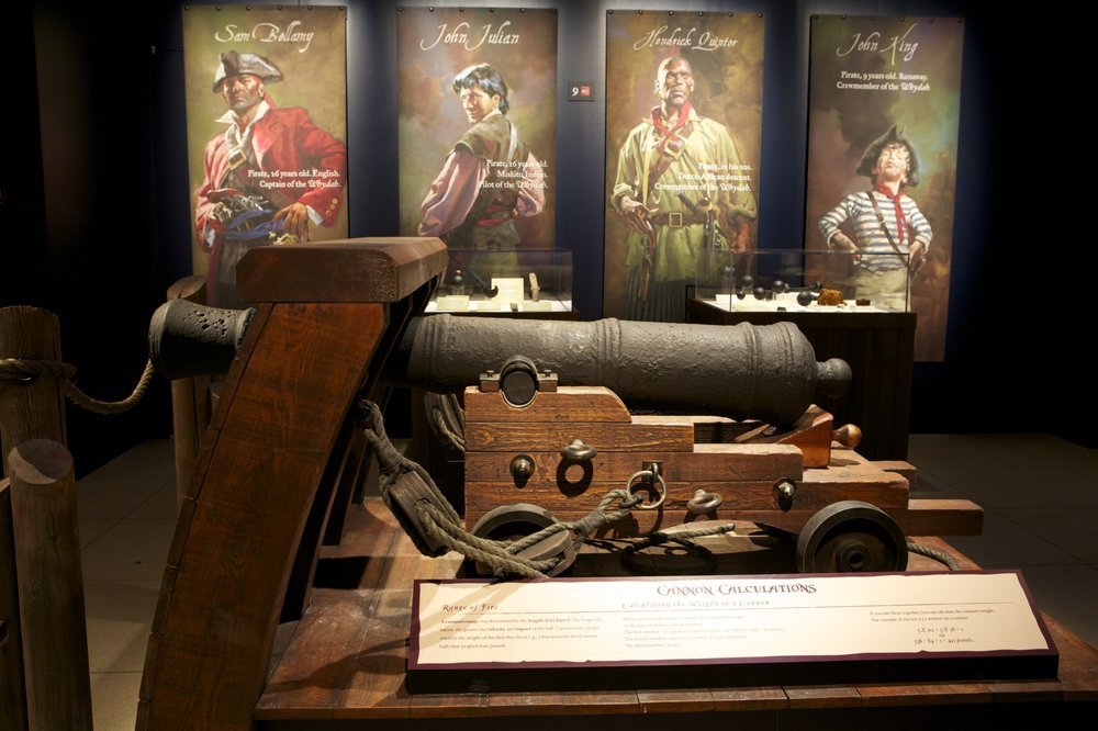 Cannon from the Real Pirates exhibit