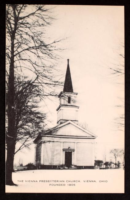 Early 20th century postcard depicting the Vienna Presbyterian Church