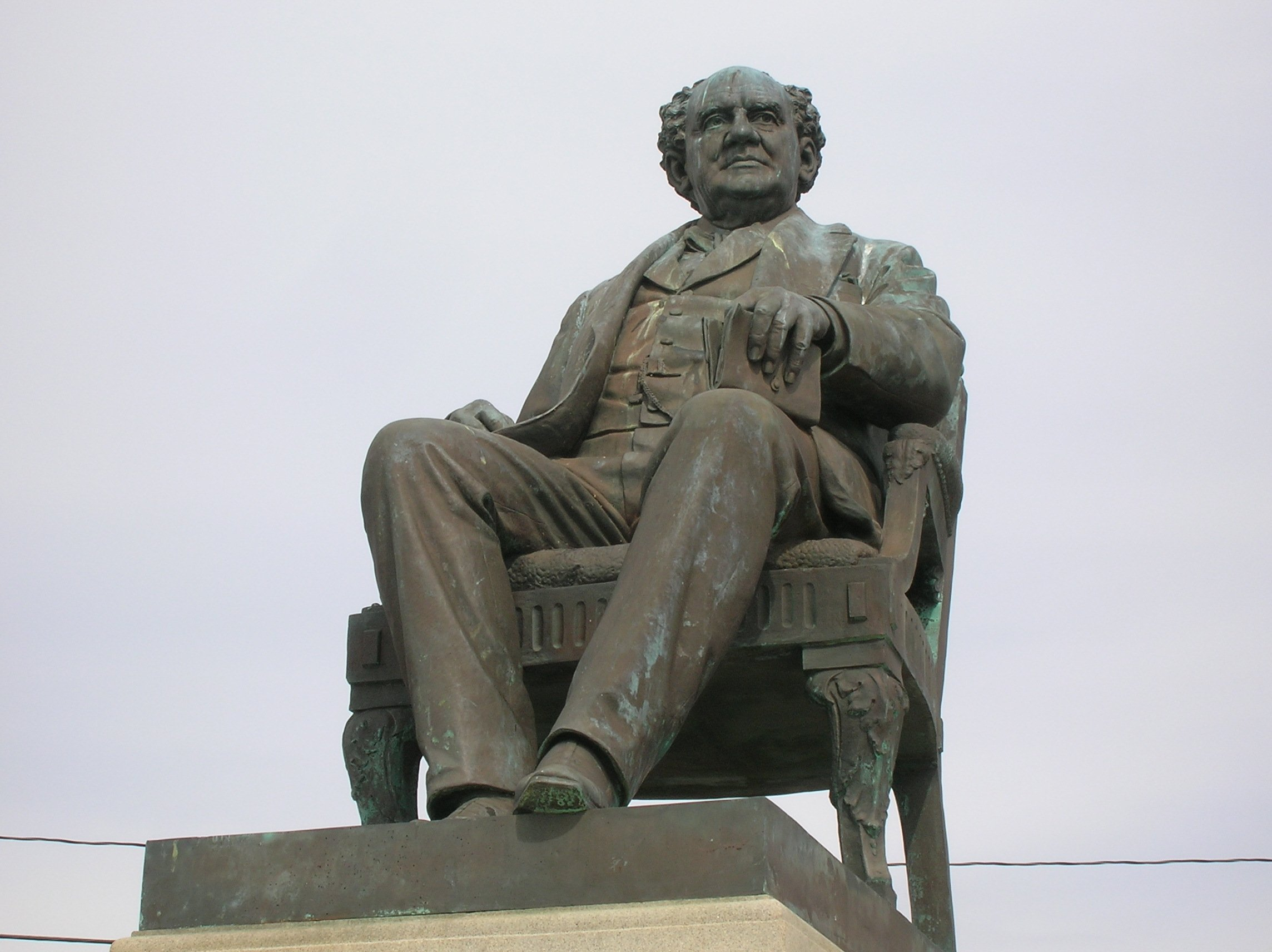"""Statue of Phineas Taylor """"P.T."""" Barnum  Famous Showman, politician and conservationalist. Located at Seaside Park Bridgeport, Ct.  Remembering the famous showman Phineas Taylor Barnum is a vital part of Bridgeport's History."""