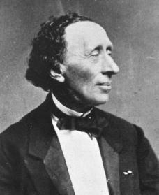 A portrait of Hans Christian Andersen.