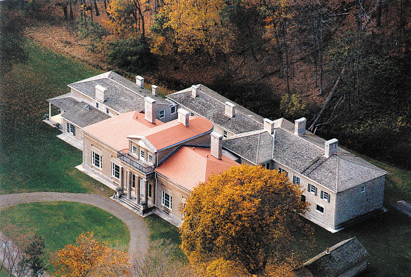 Aerial view of Hyde Hall