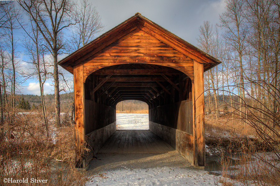 Covered bridge on the grounds of Hyde Hall