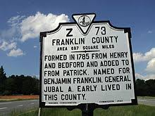 Franklin County, Virginia Historical Marker
