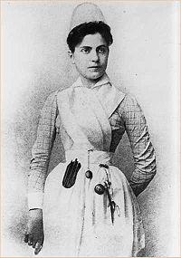 Portrait of Lillian D. Wald, author, Women's Rights activist, and nurse.