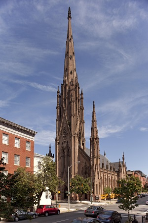 The Gothic Revival church was added to the National Register of Historic Places in 1973.