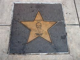 Don Knotts' star on the sidewalk in front of the Metropolitan Theatre