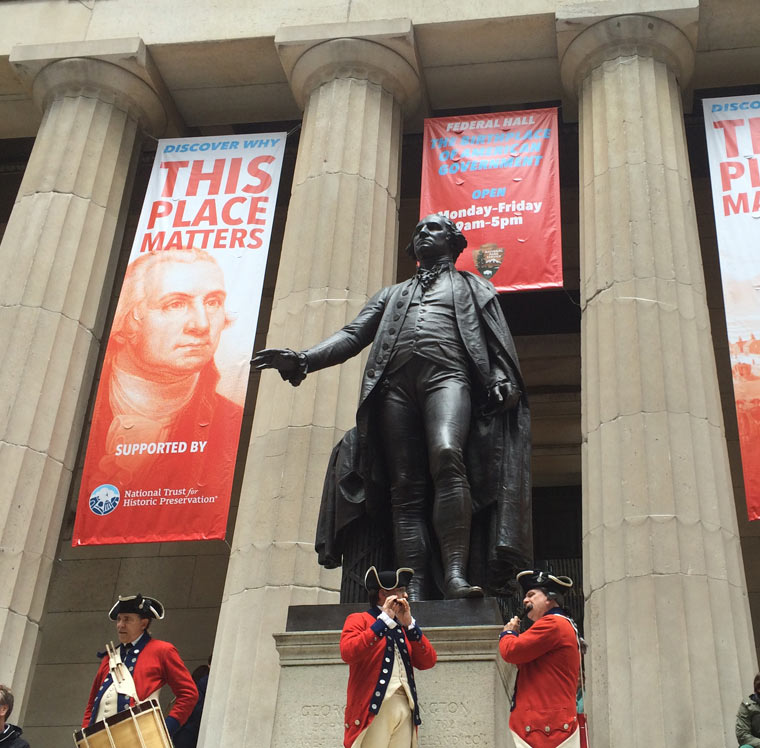 George Washington statue in front of Federal Hall
