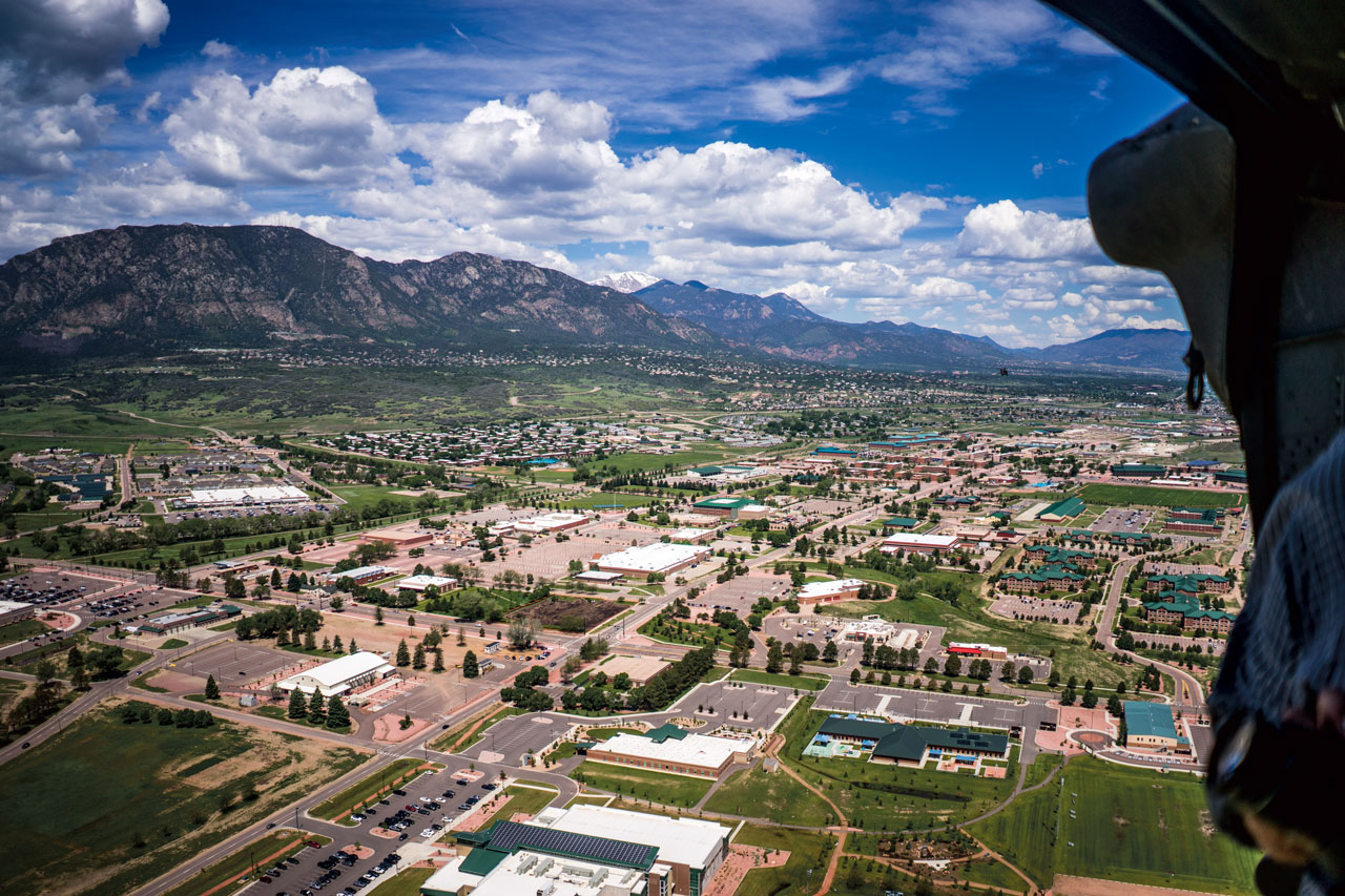Arial view of Fort Carson