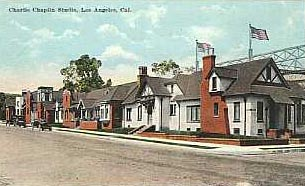 "Here is the front of Charlie Chaplin Studios. Chaplain desired ""picturesque English cottages,"" and that is exactly what he got. 