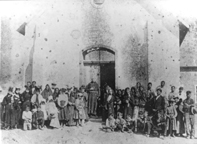 Mexican American residents constructed the original church at this location in 1881- Mount Carmel quickly became the center of the Hispanic community in Tempe