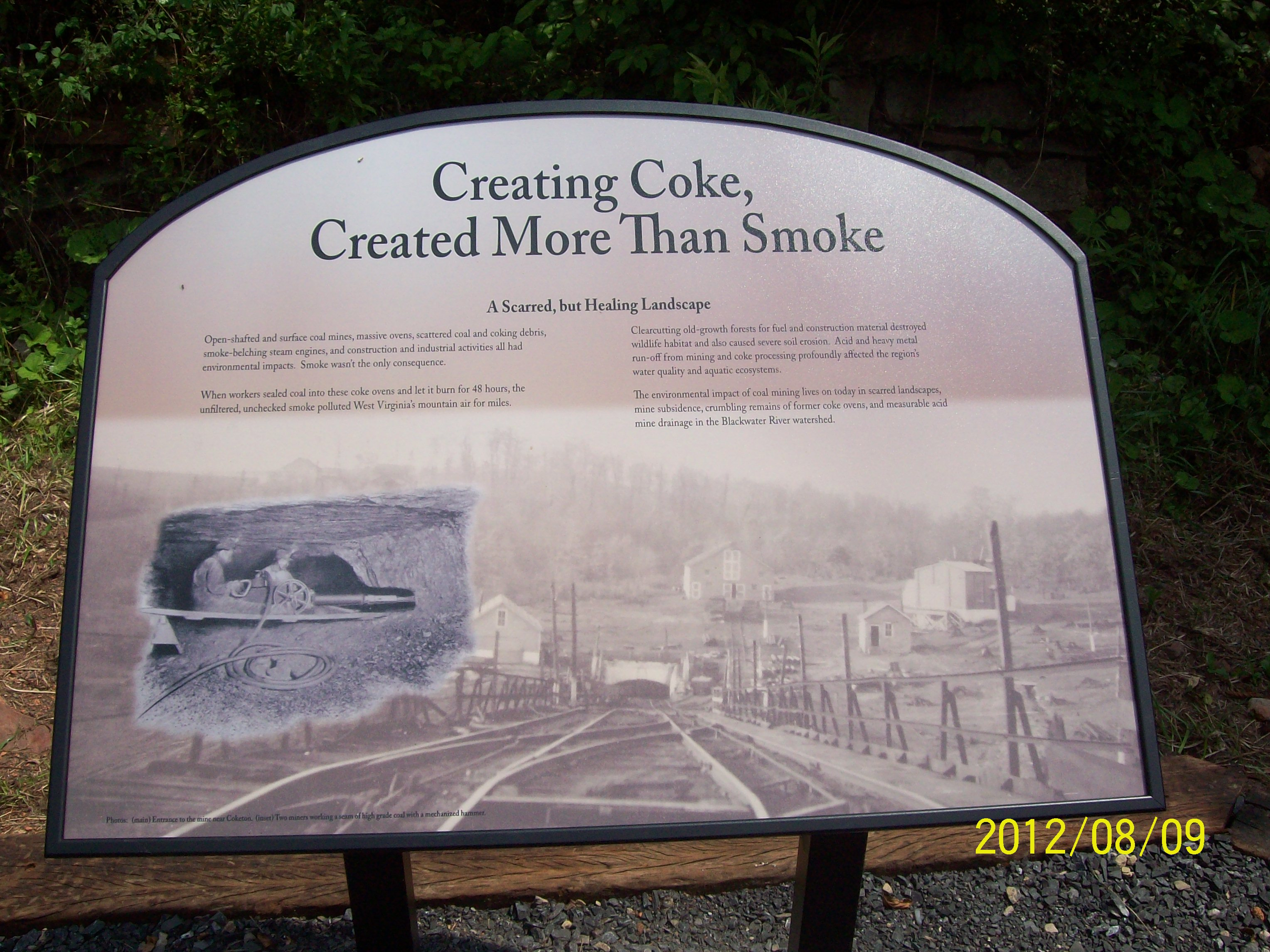 second sign about the coke ovens made by FOB