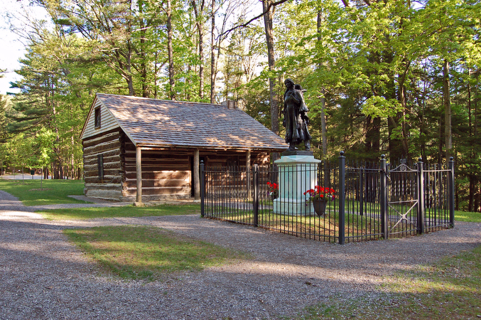 Mary Jemison Cabin and Statue