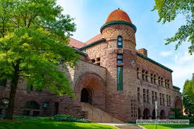 Pillsbury Hall was designed by Harvey Ellis in the Richardsonian Romanesque style