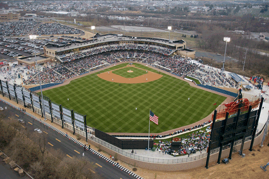 Coca-Cola Park, home of the Lehigh Valley IronPigs, had its inaugural season in 2008 when the stadium officially opened for business.