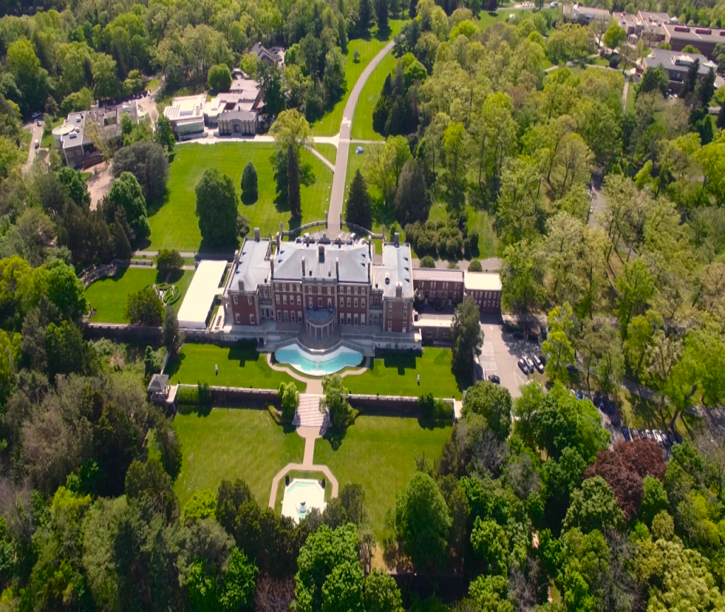 Florham Arboretum as seen from above