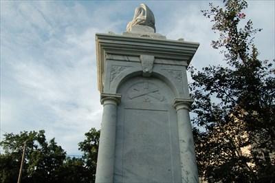 The Confederate memorial in Opelousas, Louisiana