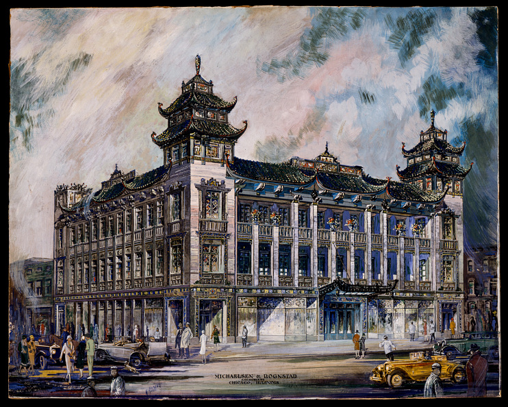 An artist's rendering of the building, around the time of its construction