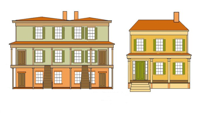 Renovation of the original homes is underway. Designs of the Mary & Eliza freeman houses.