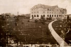 Gibson Hall shown in an mid-1890s photograph of Tulane University