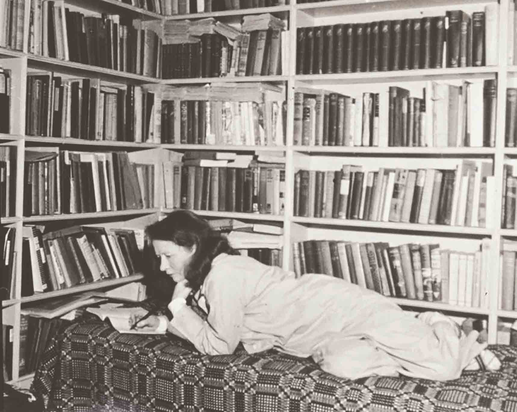 Millay in her library at Steepletop in the 1940s, where she was never to be disturbed.