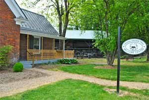 This welcome center can be found at the western terminus of the Virginia Creeper Trail.