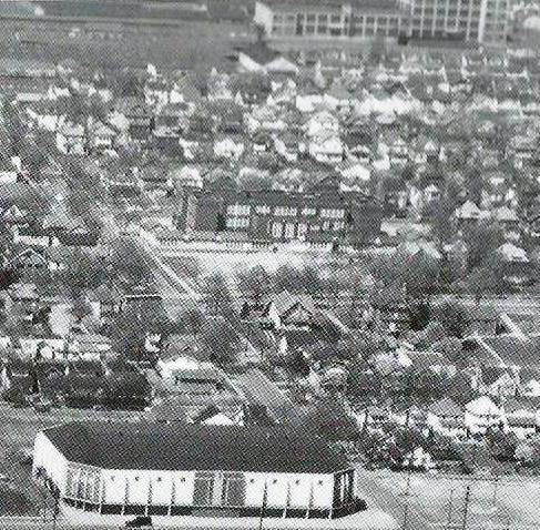 Liggett & Myers is visible at the top right, here in 1955