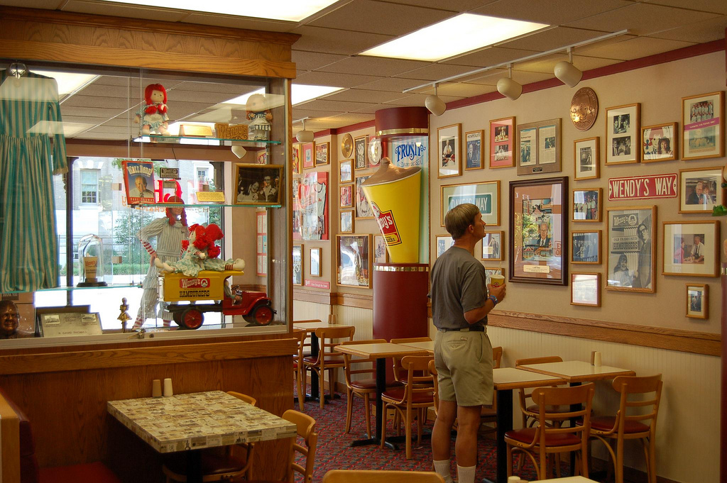 Inside the first Wendy's restaurant before it was closed in 2007