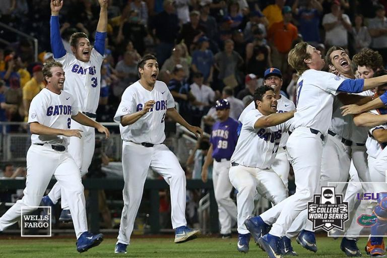 This picture was taken in 2017 when the Gators defeated LSU in the College World Series.