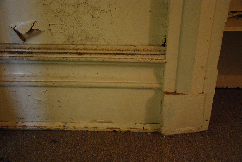 Ground Floor Door Casing and Baseboard Detail