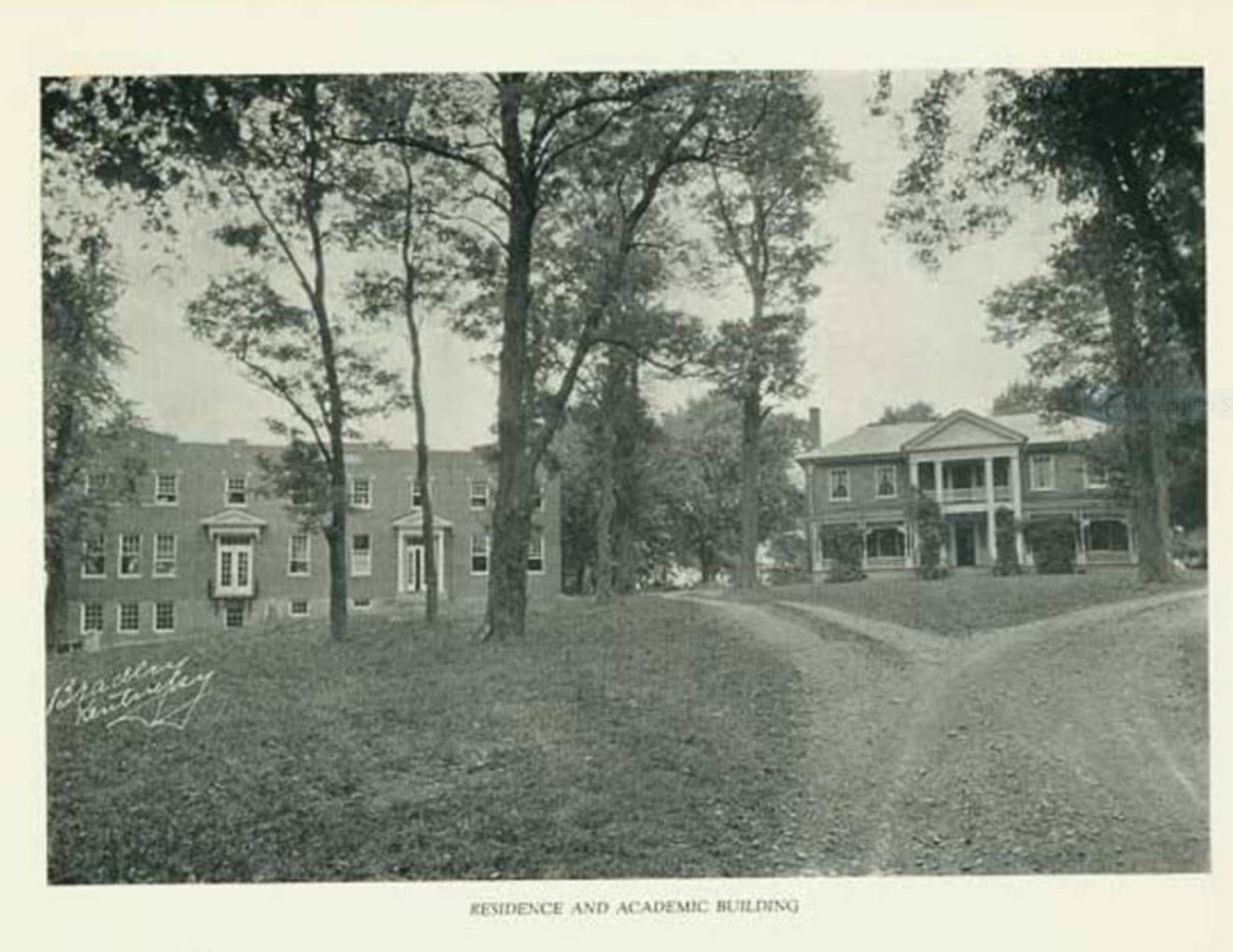 Historic Photo of Estate during ownership by the Massie School in 1924.