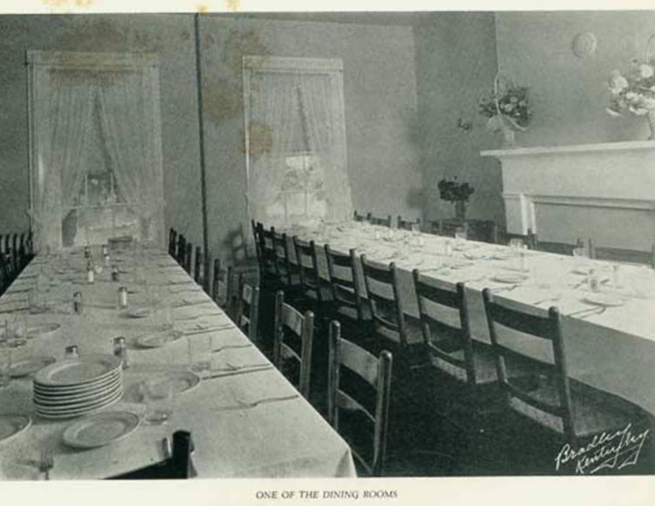 Historic Photo during ownership by Massie School.  Main Dining Room. 1924