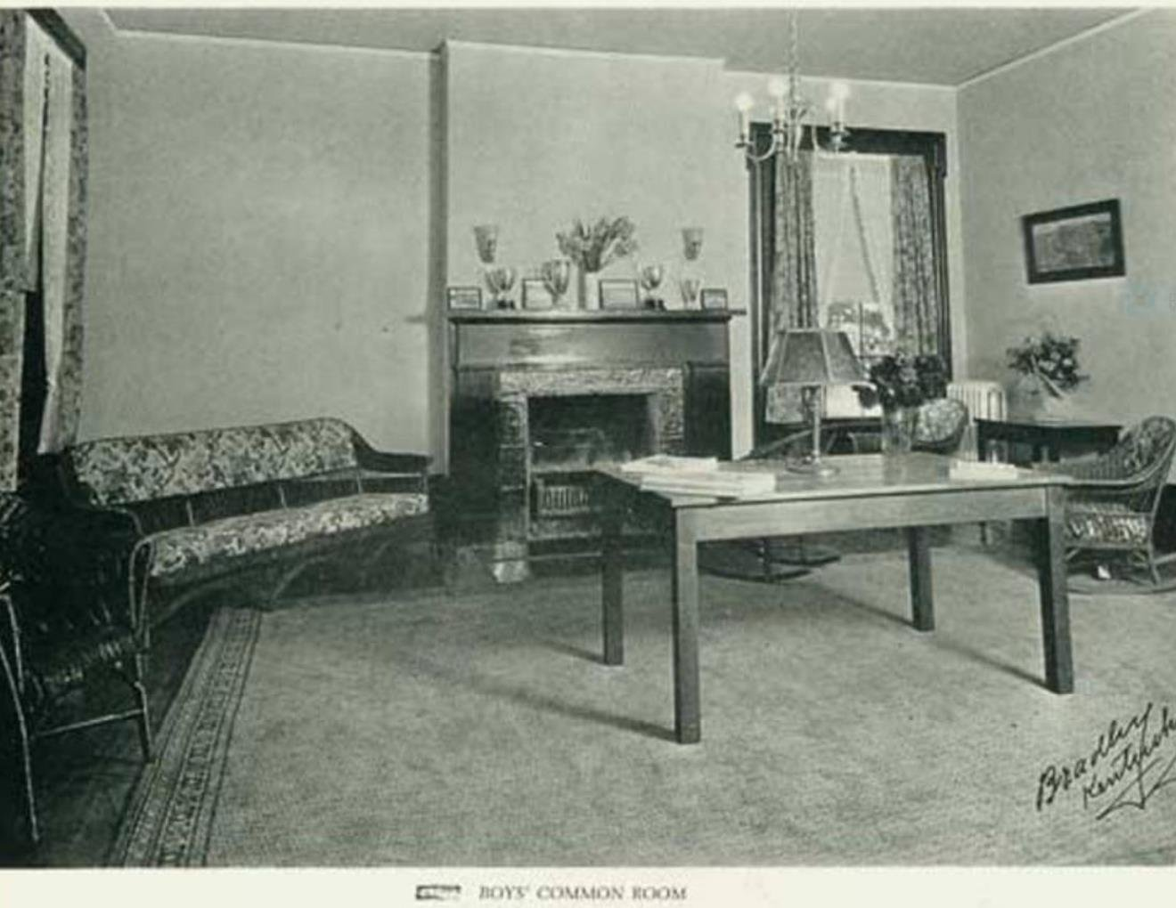 Historic Photo during ownership by Massie School.  Common Room. 1925.