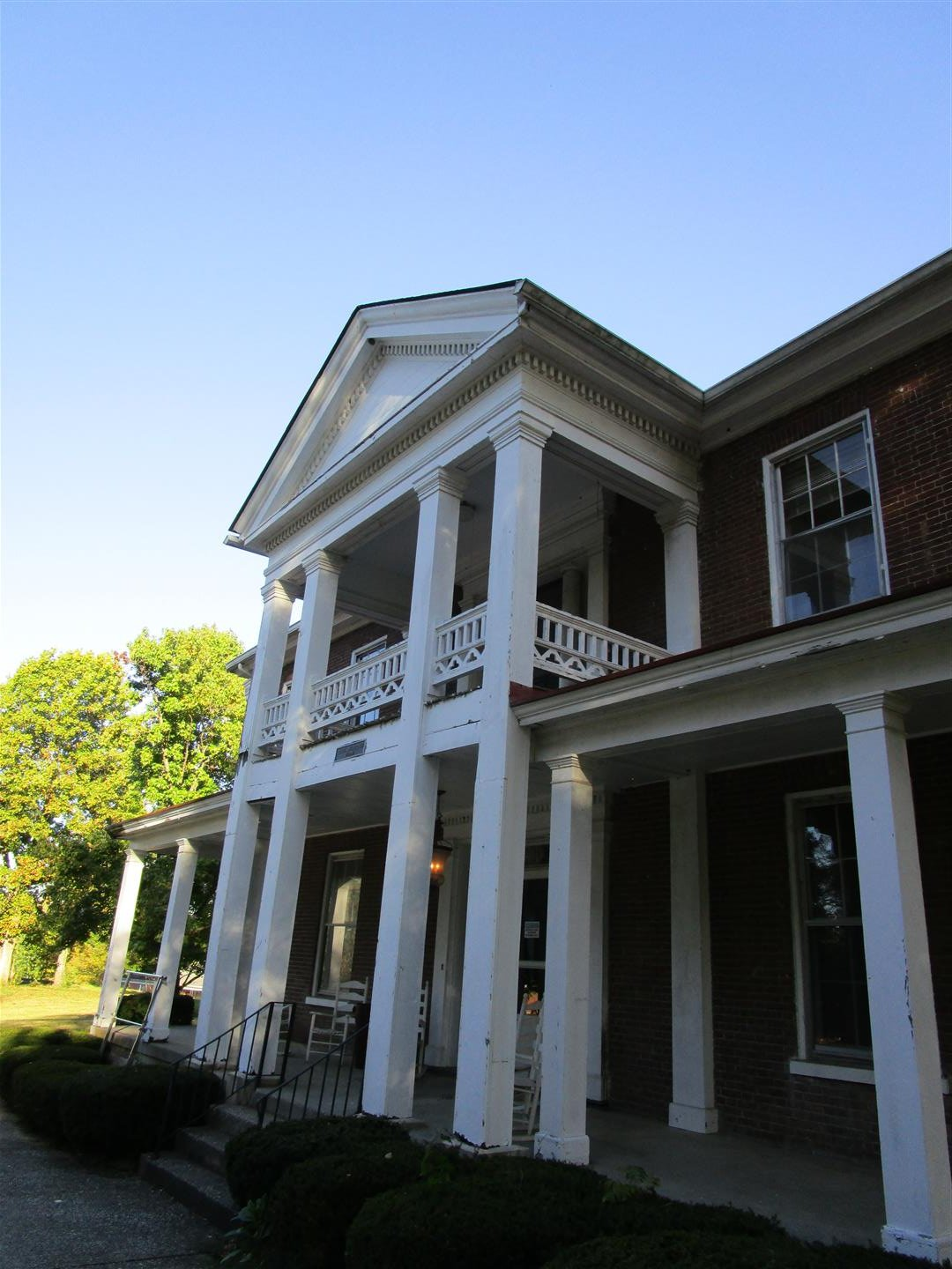 Two-Story Front Porch & Portico Detail