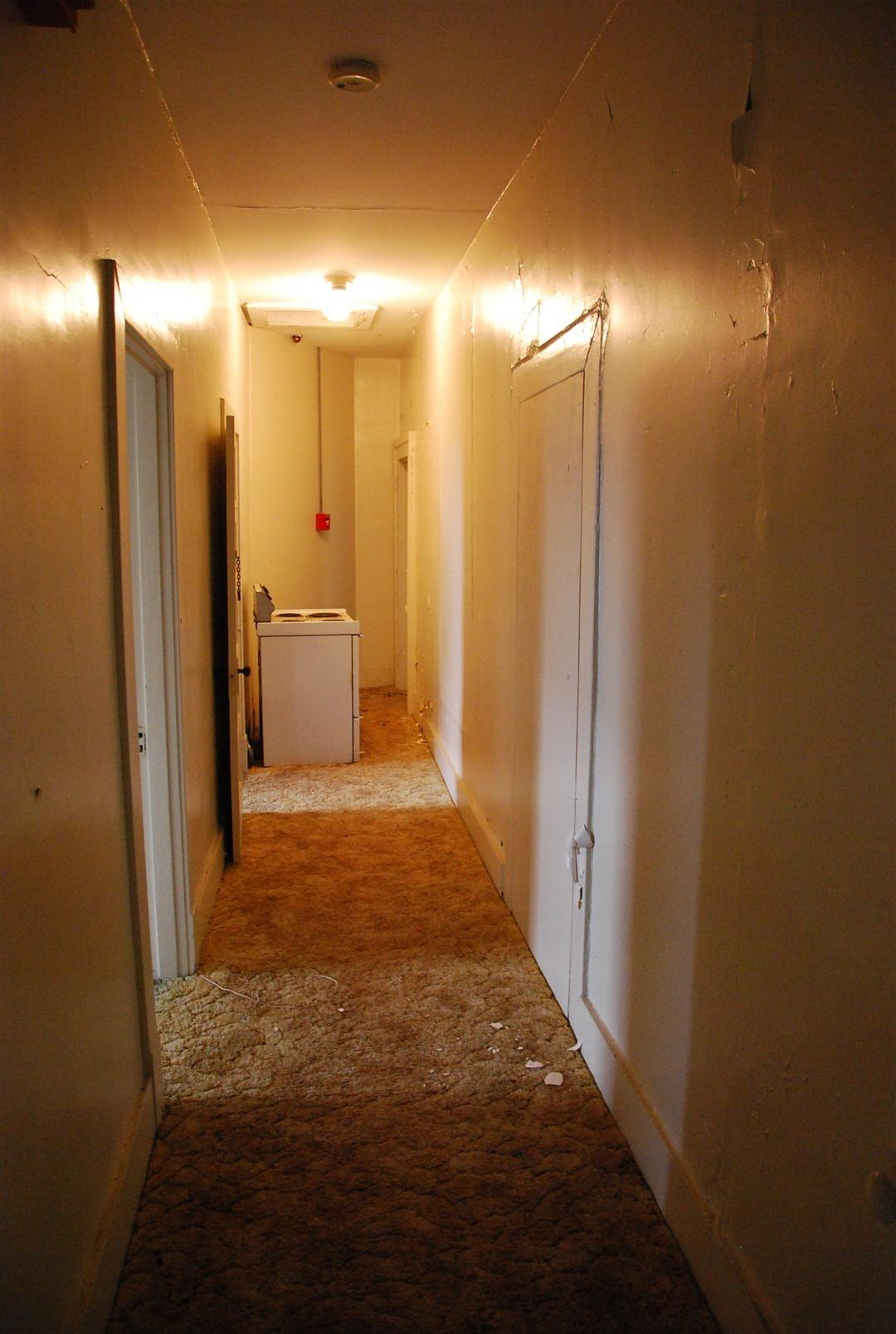 Second Floor Corridor (Note infilled doorways (previously leading to original 2 story sleeping porch)