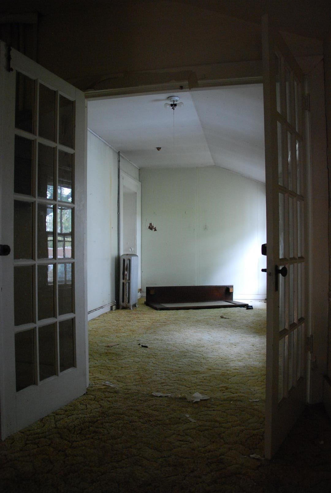 Infilled Second Floor Sleeping Porch (View at top of Added run of stairs off of Grand Stair Landing)