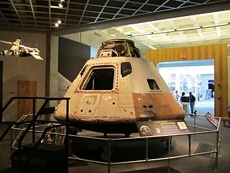 The Skylab 3 Apollo Command Module is on display in the visitor center.