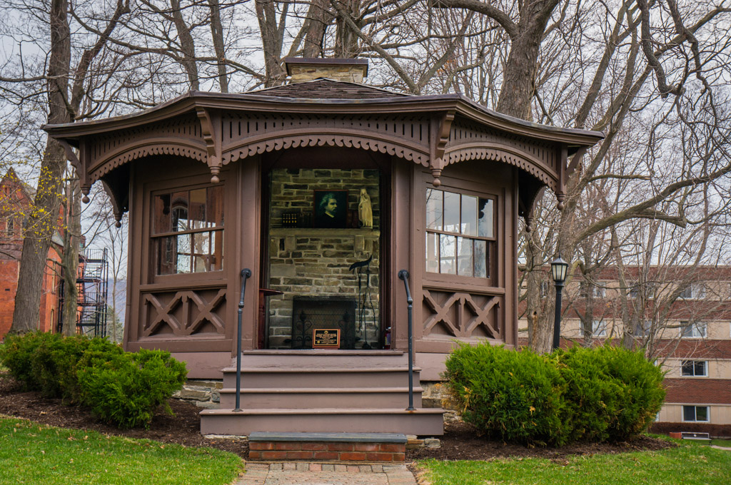 The Twain cabin on the campus of Elmira College