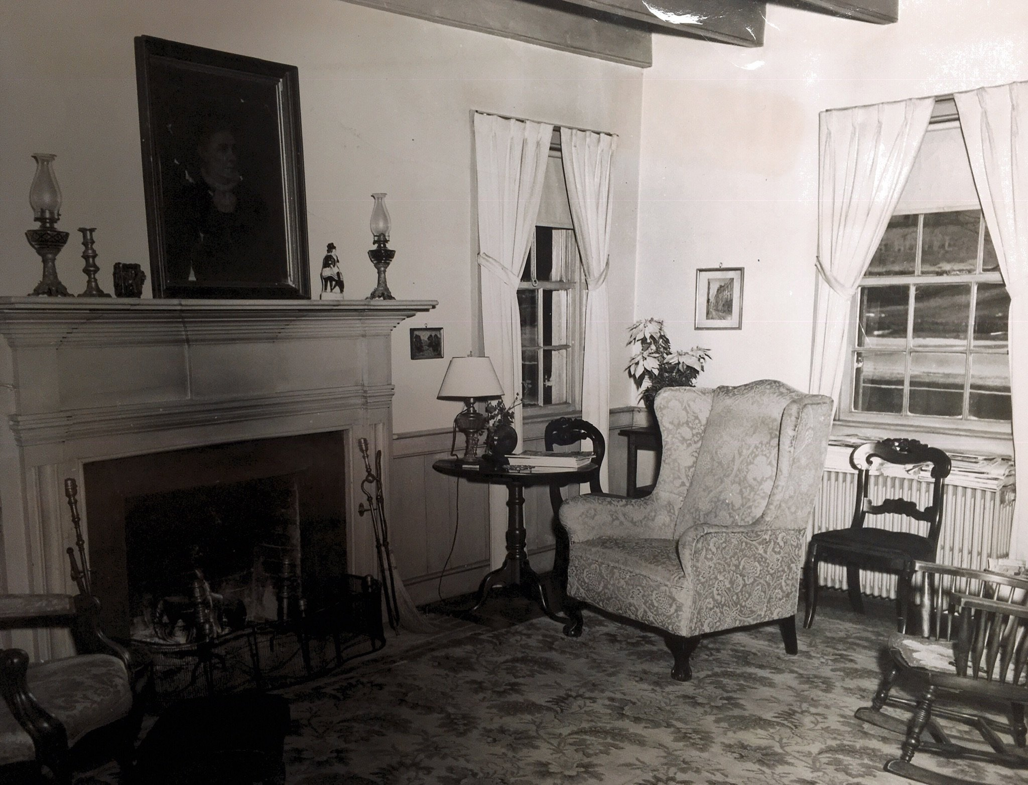 Interior of the house when it was occupied by the Houck family. Photo courtesy of Greenbrier Historical Society.