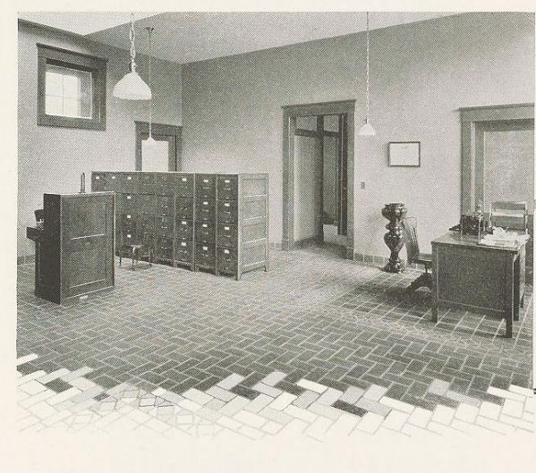 Image of one of rooms in building in company's 1925 catalog
