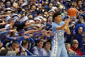 """The Cameron Crazies"" are known as the loudest fans in college basketball. It is rumored that the sound of the student section yelling is louder than a jackhammer being pounded on a floor."