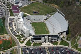 Aerial view of Lane Stadium and Worsham Field