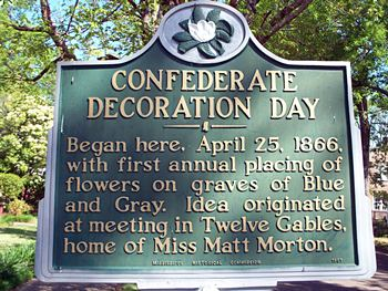 Decoration Day Historical Marker