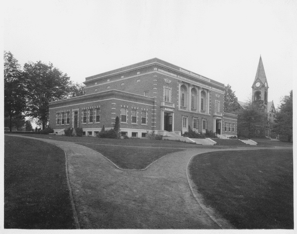 Memorial Hall exterior, ca. 1950s